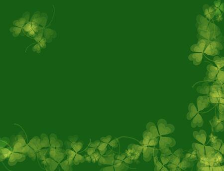 Saint-Patrick de jour Background-vert des tons, avec motif shamrock, convenable pour une vari�t� de mod�les de vacances