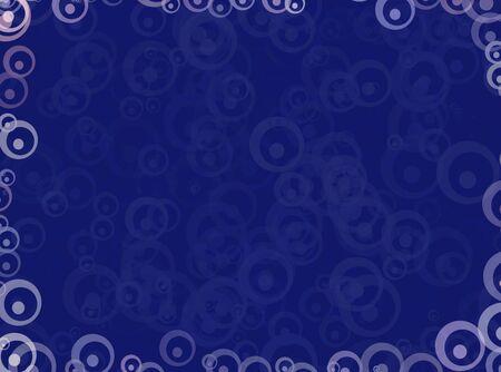 泡とサークル青のイラスト背景 写真素材