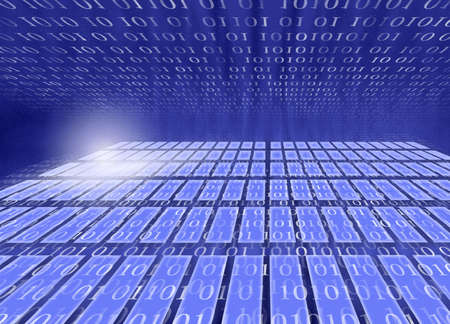 computerized: Digitally created background with zeroes and ones, suitable for a variety of business, computer, communications, finance related projects Stock Photo