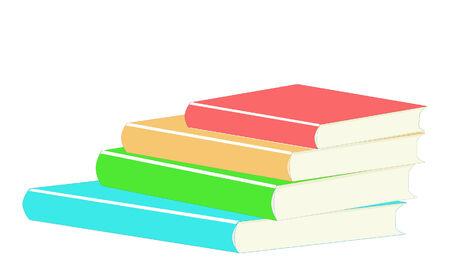 Illustration of a stack of books over white Иллюстрация