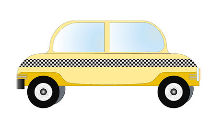 taxista: Taxi o taxi ilustraci�n vectorial en blanco Vectores