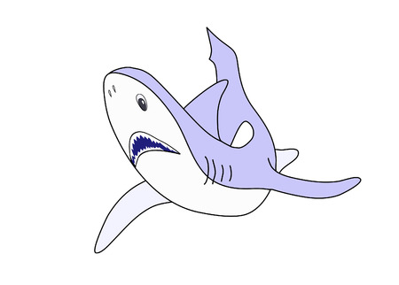 Illustration of a shark isolated over white, available as vector Ilustração