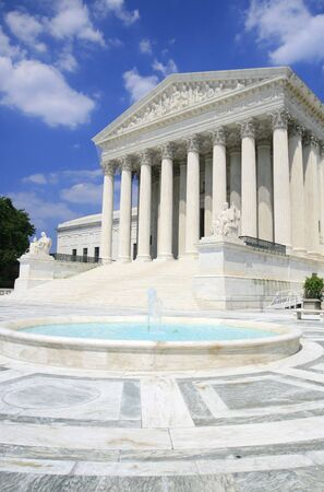 US Supreme Court in Washington DC. Versatile image that could be used to represent politics, power, government, traveling, policy debates, elections, justice, human rights. photo