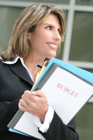 Successful business woman or politician planning a budget Stock Photo - 3765288