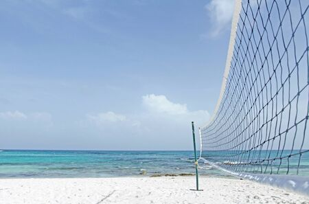 beach volleyball: Beach volleyball, ocean, tropical, caribbean setting