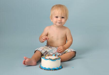 Baby birthday cake smash