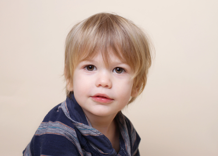 haircut: Child, portrait of face, looking at camera