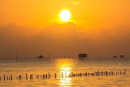 sunrise: Beautiful sunrise above the sea Stock Photo