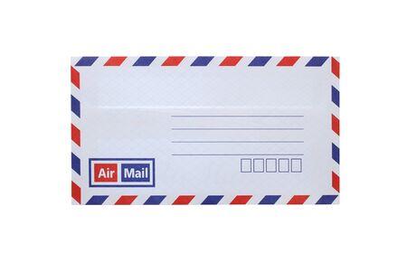 Flag of thailand envelope isolated on white background Stock Photo
