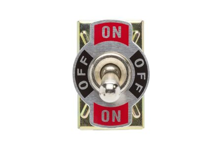 toggle switch: Toggle Switch isolated on white background.( With clipping path.)