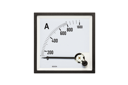 Analog ammeters isolated on white background.( With clipping path.)