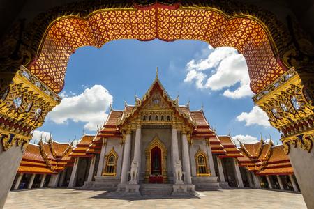 Beautiful Thai Temple Wat Benjamaborphit, Bangkok, Thailand Reklamní fotografie