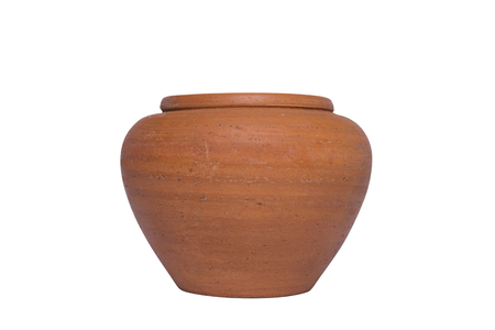 Soft clay pot isolated on white background. Reklamní fotografie