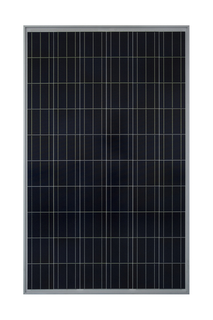 Solar panels isolated on white background.( With clipping path.)