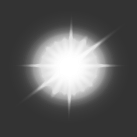 Vector glowing star. Transparent effects Vettoriali