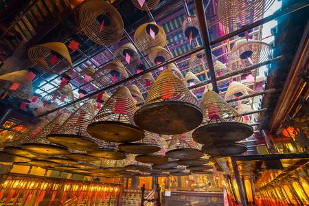 Человек Мо Храм в Гонконге. Это популярный храм в Гонконге. Редакционное
