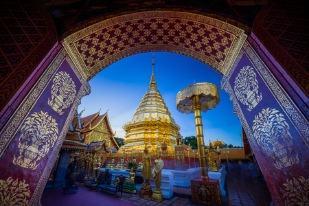 Wat Phra That Doi Suthep temple is a popular temple of Chiang Mai, Thailand.