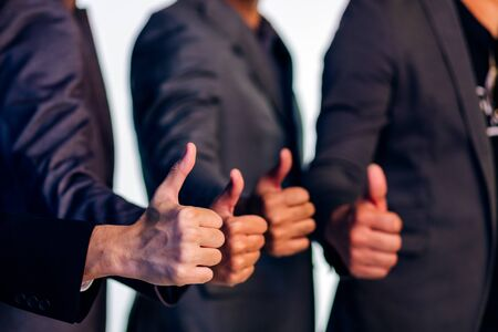 Group of business people giving thumbs up 스톡 콘텐츠