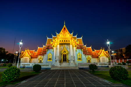Wat Benchamabophit Dusitwanaram is a Buddhist temple (wat) in the Dusit district of Bangkok, Thailand. Also known as the marble temple at sunset