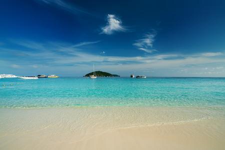Scenery of beautiful tropical beach on Similan islands in Andaman sea at Phang Nga near Krabi and Phuket southern of Thailand.