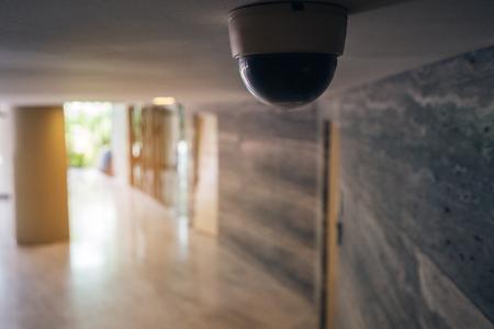 Security CCTV camera in condominium