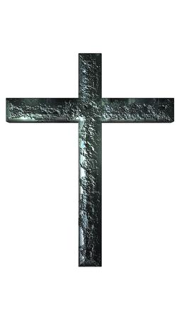 Cross iron texture  on white background Archivio Fotografico - 108687902