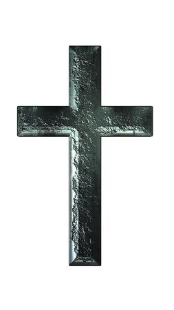 Cross iron texture on white background