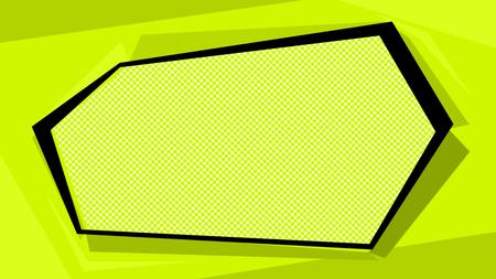 Frame Gradient dots background Pop-art texture. Pop art template Stock Photo