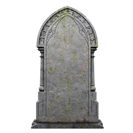 gravestone on the white background 스톡 콘텐츠 - 108687921
