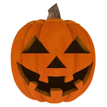 Halloween is isolated with a terrible pumpkin in a 3D style on a white background. Illustration on Halloween Celebration for your projects