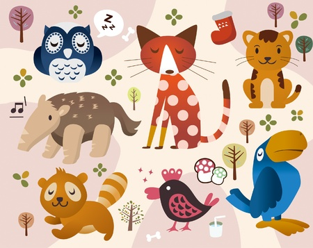 cute animal zoo Stock Vector - 8501564