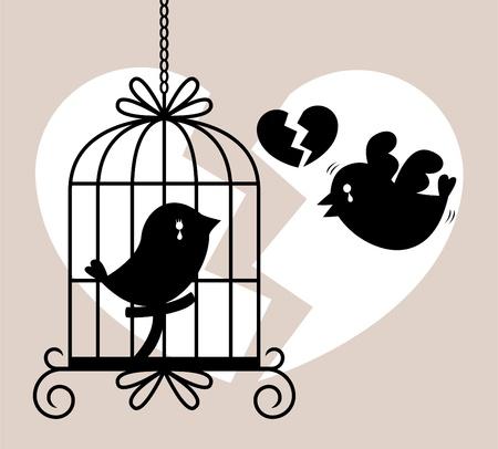 bird cry card Vector