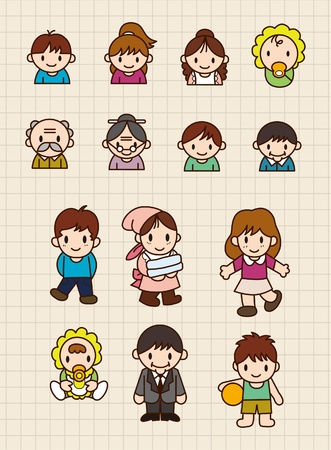 cartoon family Stock Vector - 8493884
