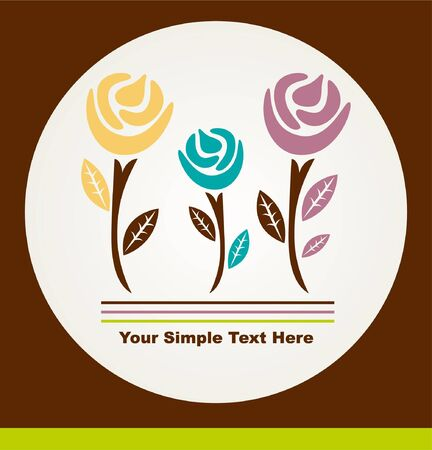 Floral card Stock Vector - 8493875