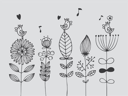 flower card Stock Vector - 8493891