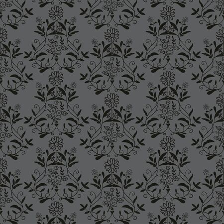 black antique seamless Vector