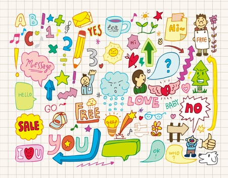 collection of doodles(hand draw) Vector
