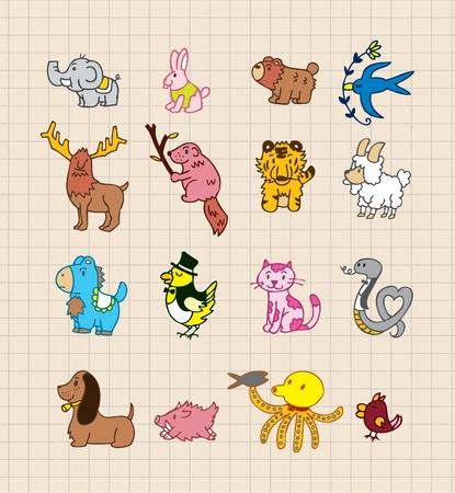 nutria caricatura: mano dibujar animales Vectores