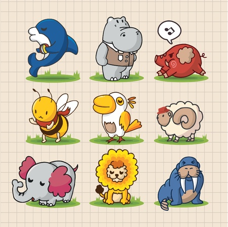 cute cartoon animals Stock Vector - 8501545