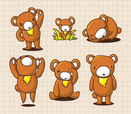 cute cartoon bear Stock Vector - 8493885