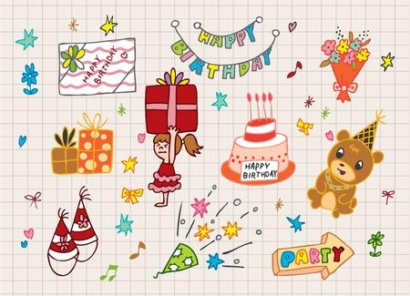 zauberhaft: Happy Birthday-Symbol Illustration