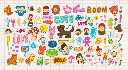 personages: funny cartoon icon