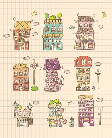 hand draw house Vector