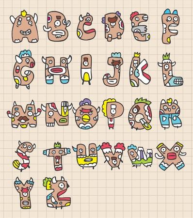monster letters Stock Vector - 8493829