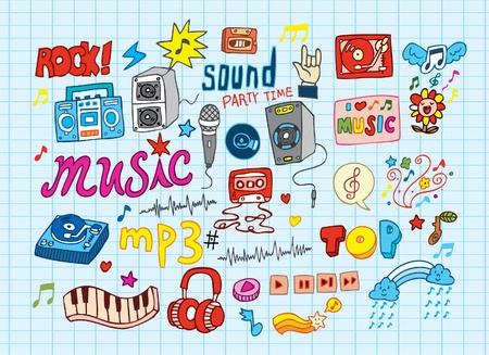 earbud: Ilustraciones de m�sica incompletos Vectores