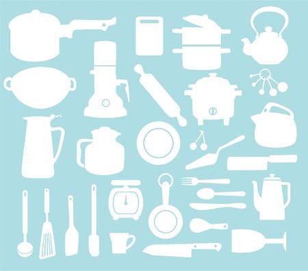 tableware: Kitchen pattern Illustration