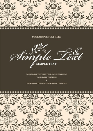 Vintage styled invitation. Vector