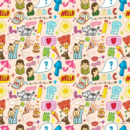 funny thing seamless,pattern Vector