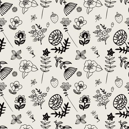 flower pattern Stock Vector - 8501558
