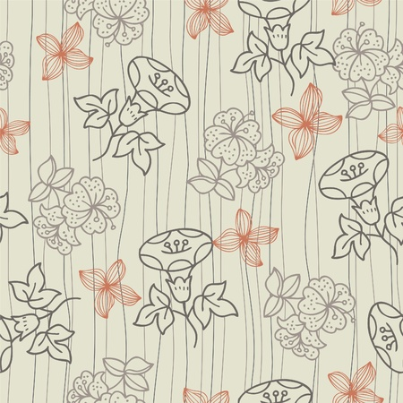 seamless old fashion flower Vector